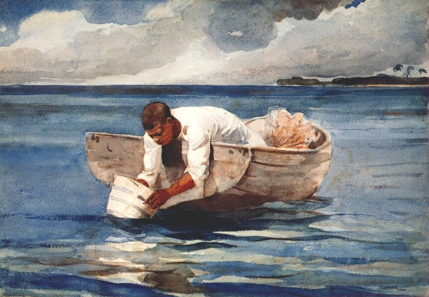 The Water Fan - Winslow Homer